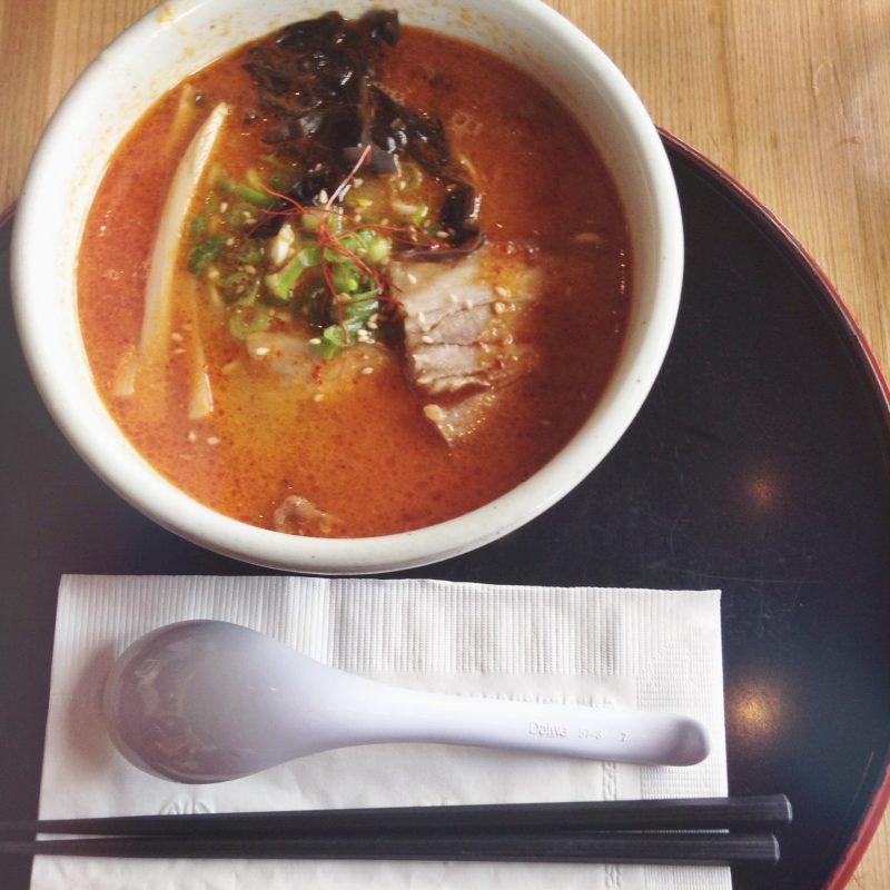 Hokkaido Santouka Ramen - Kara Miso Ramen with BBQ Pork/Char Siew, Black Fungus and Bamboo Shoots - HELLOTERI