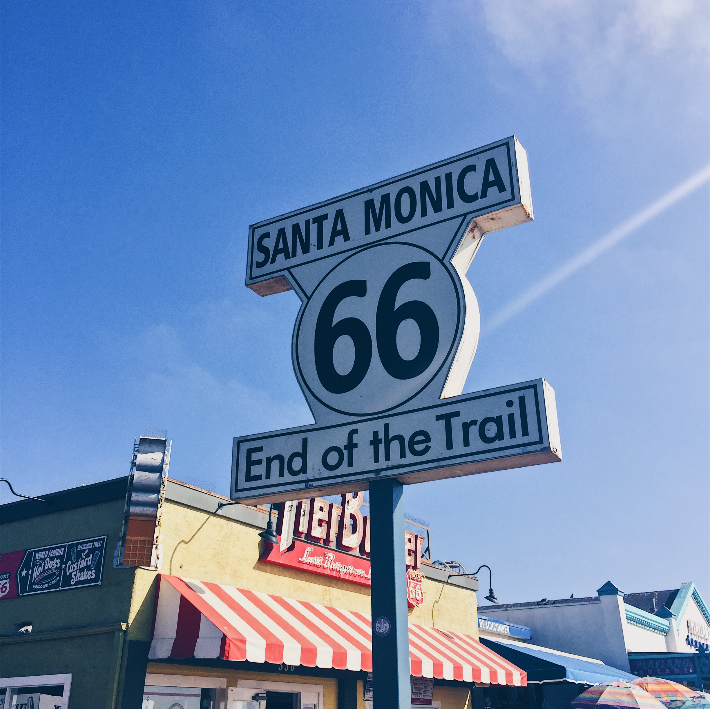 Santa Monica, California, USA - Promenade Mall, Third Street Promenade, Pacific Park, Route 66 Sign, Santa Monica Beach and Santa Monica Pier - helloteri
